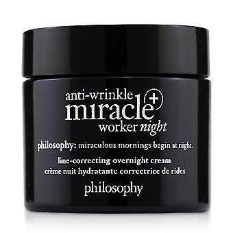 Anti arrugas milagro trabajador noche + línea de corrección de la crema durante la noche 242100 60ml /2oz