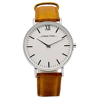 Andreas osten Quartz Analog Unisex Watch with AO-49 Cowskin Bracelet