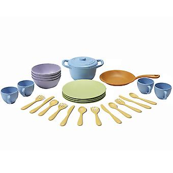 Green Toys Children's Cookware and Dining Play Set Eco Friendly BPA Free