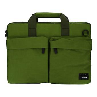 Multi-Storage Aktentasche für Laptop und Tablet 15.4 ''- Grün khaki