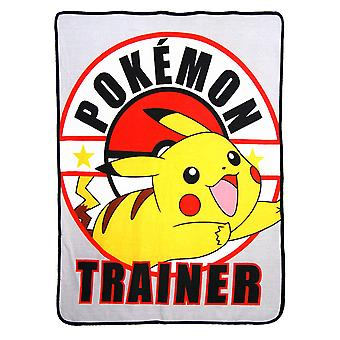 Super Soft Throws - Pokemon - Pikachu Trainer New 45x60