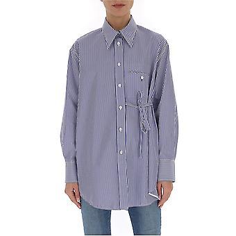 Chloé Chc20sht1204599g Women's White/blue Cotton Shirt