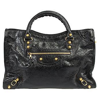 Balenciaga Giant 12 Gold City Bag | Black Lambskin Leather | Medium