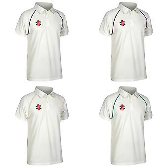 Gray Nicolls Mens Matrix Kurzarm Cricket Shirt