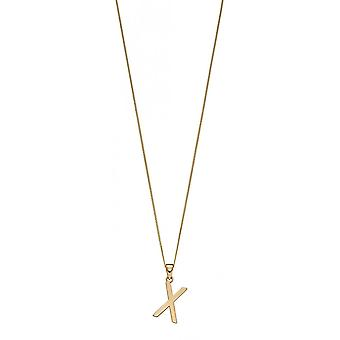 Joshua James 9ct Gold Letter X Pendant