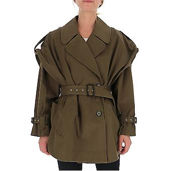 Alberta Ferretti 06276632a0438 Damen's Grüne Wolle Outerwear Jacke