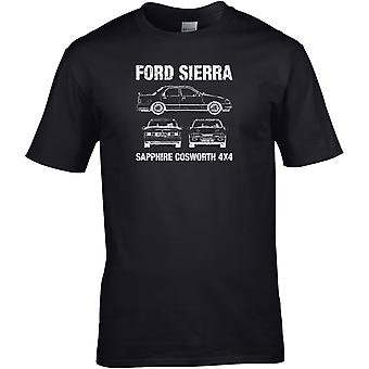 Ford Sierra Coswoth 4x4 Classic - Car Motor - DTG Printed T-Shirt