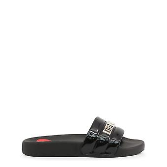 Love Moschino Original Women Spring/Summer Flip Flops Black Color - 72831