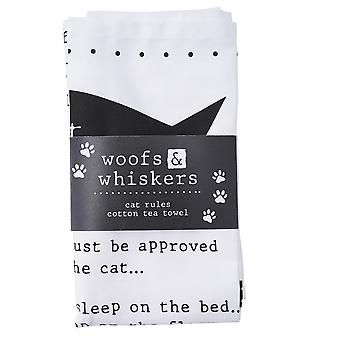Woofs & Whiskers Cat Regels Theedoek
