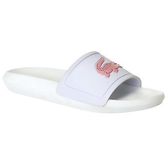 Lacoste Women's Croco 119 1 CFA Sliders White/Pink 54