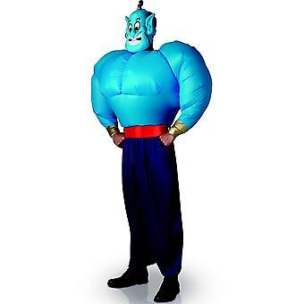 Déguisement génie d'Aladdin avec torse gonflable adulte