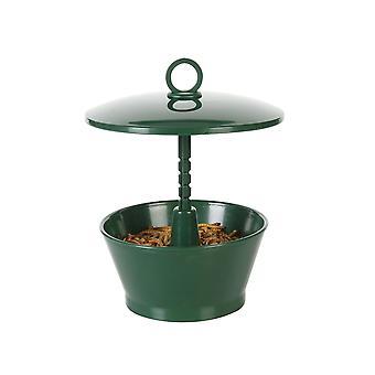 Wild bird feeder with roof