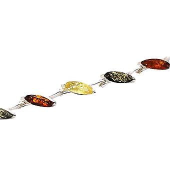 Das Olivia Collection Sterling Silber dreifarbig Amber Leaf Armband