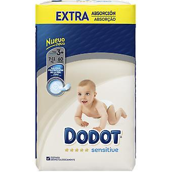Dodot Sensitive Extra Diaper Size 3 with 60 Units (Baby & Toddler , Diapering , Diapers)