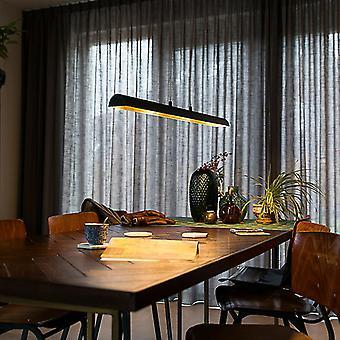 QAZQA Lampe suspendue noire avec intérieur doré incl. LED - Balo 4