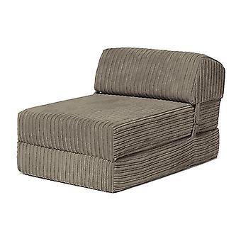 Sofas wechseln | 'Bjorn' Jumbo Cord Fold Out Single Z Bett Matratze (Stahl)