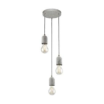 Eglo Silvares Concrete Triple Pendant Light