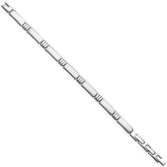Náramek z nerezavějící oceli Matt 21 cm se sklopným uzávěrem