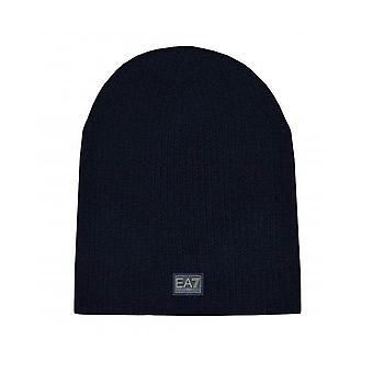 EA7 Emporio Armani Men's Dark Blue Knitted Beanie Hat