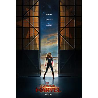 Captain Marvel Original Movie Poster Double Sided Advance Style (UV Coated)