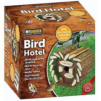 My Garden Wooden Hotel Garden Bird Nesting Box Feeding Station