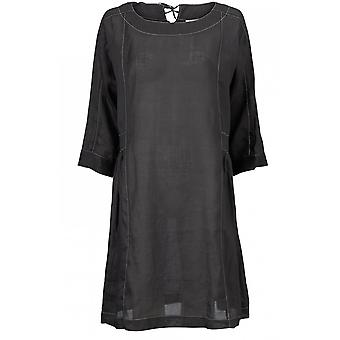 Masai Clothing Neba Black Linen Tunic