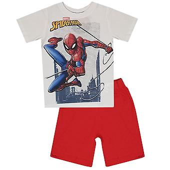 Spiderman boys pyjama shorty set