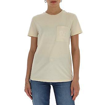 Max Mara 197102600179001 Feminino'camiseta bege cotton