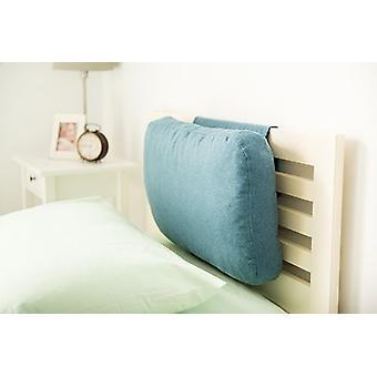 Quartos correspondentes Latte Efeito lã headboard ponderado | Apoio à cabeça do pescoço traseiro | Espuma Enchida | Roupa de cama confortável macia | Quarto residencial (Marine)