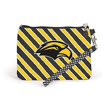 Southern Miss Golden Eagles NCAA Striped Wristlet