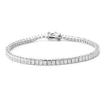 "ELANZA Tennis Cubic Zirconia CZ Bracelet Sterling Silver Size 7.25"", 8.64 Ct"
