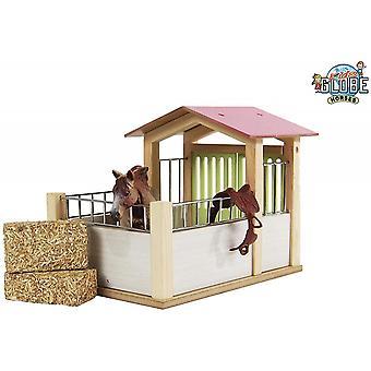 KidsGlobe  (Kids Globe) Kids Globe Horse Box / Stable (Pink Roof)  1:24 0206