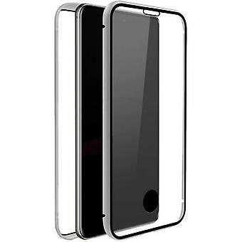 بلاك روك 360 درجة الزجاج غطاء سامسونج غالاكسي S20 + شفافة، فضة