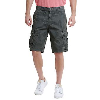 Funky Buddha Men's Cargo Shorts In Floral Print