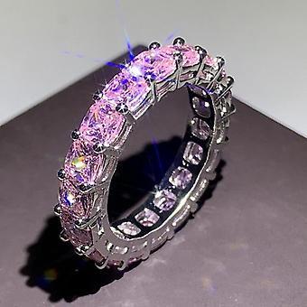 Håndlavet evighed Promise Ring 925 Sterling Sølv Band Ringe