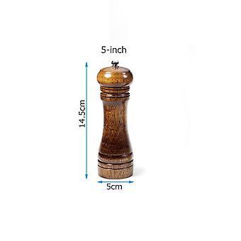 Salz- und Pfeffermühlen Massivholz Pfeffermühle mit starken verstellbaren Keramikmühle 5