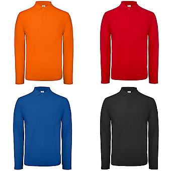 B&C Collection Mens Long Sleeve Polo Shirt
