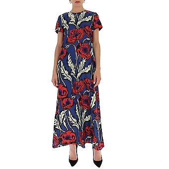 La Double J Dre0001sil001pfi0001 Women's Multicolor Silk Dress