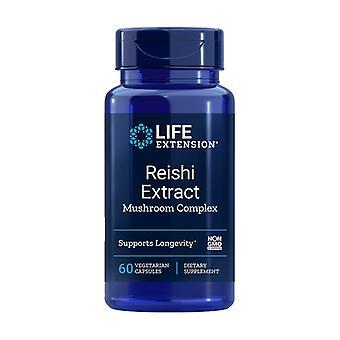 Complexe de champignons à l'extrait de Reishi 60 capsules végétales