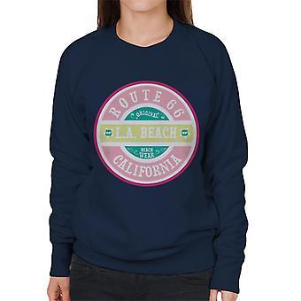 Route 66 original Pink Beach slitage kvinnors Sweatshirt