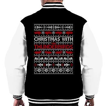 Thunderbirds Christmas With The Thunderbirds Men's Varsity Jacket