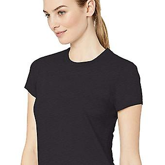 Brand - Daily Ritual Women's Washed Cotton Short-Sleeve Crew Neck T-Shirt, black, X-Large