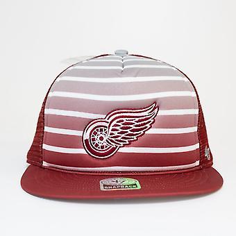 47 Marke Nhl Detroit Red Wings Mesh Dome Trucker Snapback Cap