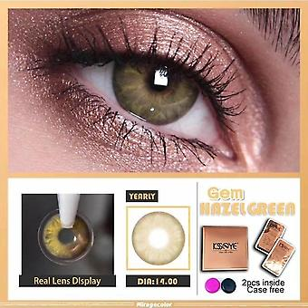 Gemstone Bluegray Colored Contact Lenses For Eyes Colored Eye Lenses Color Contact Lens Beautiful Pupil