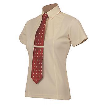 Camisa de gravata de manga curta para crianças de Shires - Amarelo