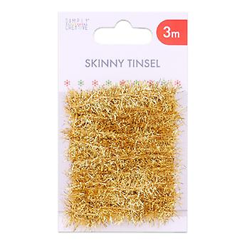 Simplement Creative Basics Skinny Tinsel Gold