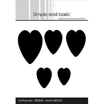 Enkel och grundläggande Hjärtan Cutting Die