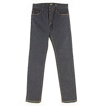 Fendi FF Pocket Logo Slim Jeans Mørkeblå