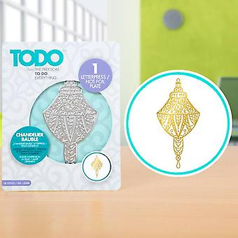 TODO Hot Foil Press Chandelier Bauble