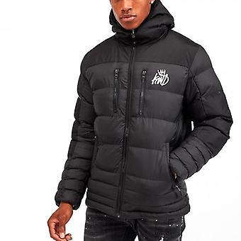 Kings Will Dream Boden Black Hooded Puffer Jacket